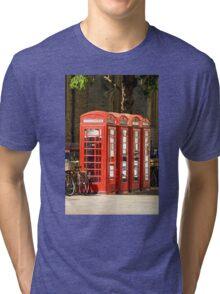 Red Phone Boxes Tri-blend T-Shirt