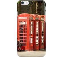 Red Phone Boxes iPhone Case/Skin