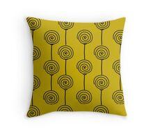Windmills - Mustard Throw Pillow