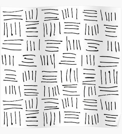 Doodle sticks on white Poster