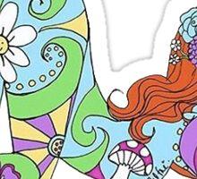 valfre flower girl Sticker