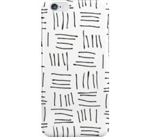 Doodle sticks on white iPhone Case/Skin