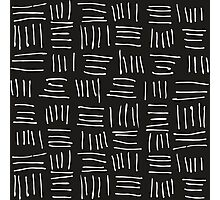 Doodle sticks on black Photographic Print