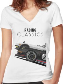Racing Classics Women's Fitted V-Neck T-Shirt