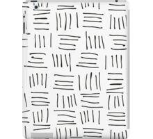 Doodle sticks on white iPad Case/Skin