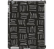 Doodle sticks on black iPad Case/Skin