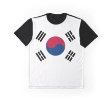 I Love Korea - South Korean Flag T-Shirt and Sticker Graphic T-Shirt