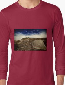 big stone near the forest Long Sleeve T-Shirt