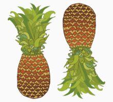 Pineapple Pop Art Pattern on Mint One Piece - Long Sleeve