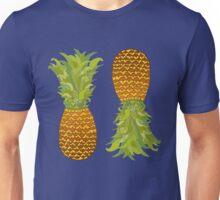 Pineapple Pop Art Pattern on Mint Unisex T-Shirt