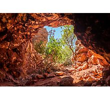 Red ochre mine Photographic Print