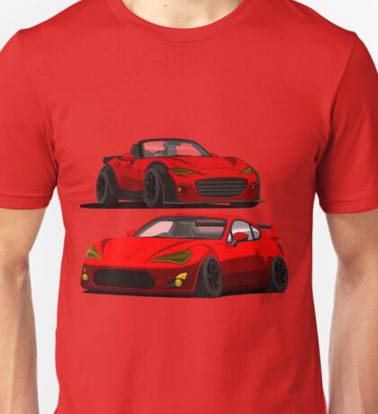 Mazda Miata MX 5 and Gt 86 Unisex T-Shirt