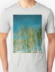 Beautiful summer in the forest. Reflection of birch in a lake Unisex T-Shirt