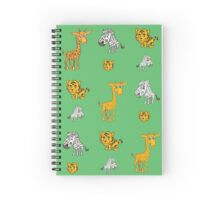 Cute Jungle Animals Pattern  Spiral Notebook