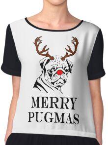 Merry Pugmas Chiffon Top