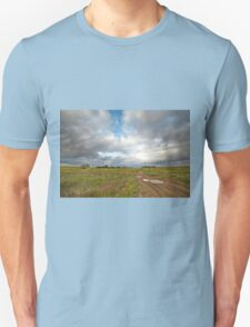 Country road and clouds Unisex T-Shirt