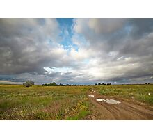 Country road and clouds Photographic Print