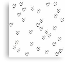 Monochrome hearts Canvas Print