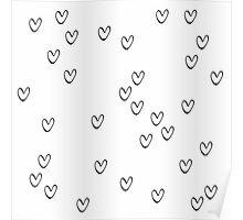 Monochrome hearts Poster