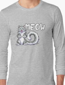 Snow leopard meow Long Sleeve T-Shirt