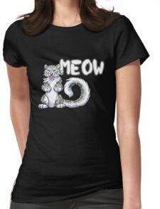 Snow leopard meow Womens Fitted T-Shirt