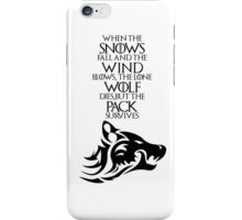 Dire Wolf - Ghost iPhone Case/Skin