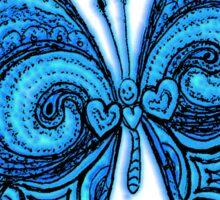 Blue Psy GOA Butterfly Sticker