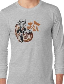 Fox tribal tattoo Long Sleeve T-Shirt