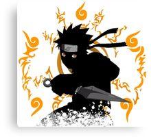 black ninja Canvas Print