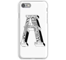 A - Mandala N°1 inside Alphabet N°1 iPhone Case/Skin