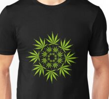 Cannabis Leaf Circle Unisex T-Shirt