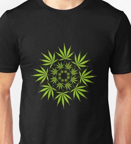 Cannabis Leaf Circle Unisex T-Shirt