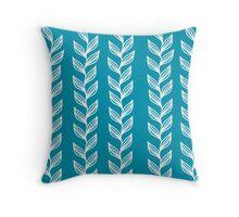 Seaweed - Turquoise Throw Pillow