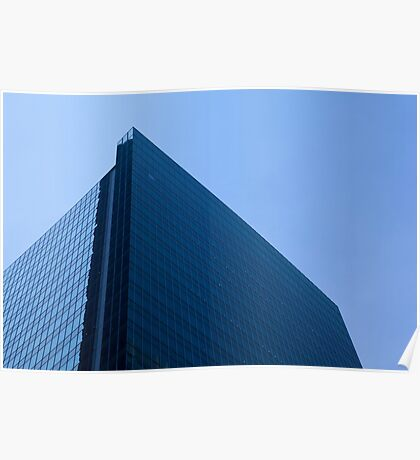 Modern Office Glass Building Poster