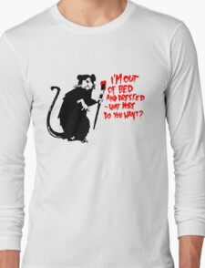 Banksy - Out of Bed Rat Long Sleeve T-Shirt