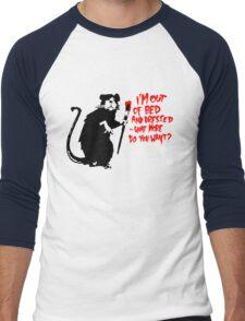 Banksy - Out of Bed Rat Men's Baseball ¾ T-Shirt