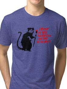 Banksy - Out of Bed Rat Tri-blend T-Shirt