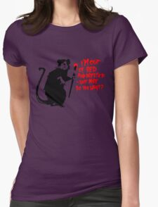 Banksy - Out of Bed Rat Womens Fitted T-Shirt