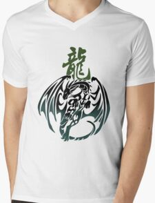 Dragon tribal tattoo Mens V-Neck T-Shirt
