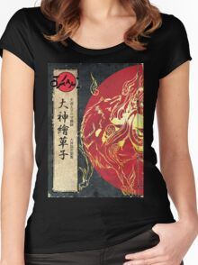 Poster okami Women's Fitted Scoop T-Shirt