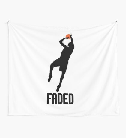 Faded - Black Wall Tapestry
