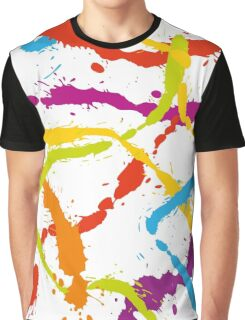 Splattered Rainbow [WHITE] Graphic T-Shirt