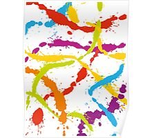 Splattered Rainbow [WHITE] Poster