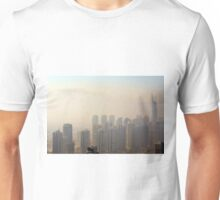 Photography of tall buildings, skyscrapers from Dubai, United Arab Emirates. Unisex T-Shirt