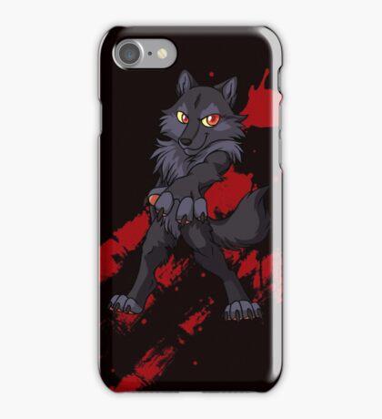 Cute anthro black wolf iPhone Case/Skin