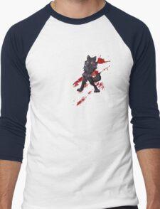 Cute anthro black wolf Men's Baseball ¾ T-Shirt