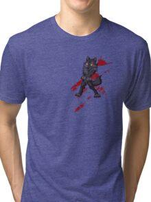 Cute anthro black wolf Tri-blend T-Shirt
