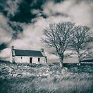 Highland Cottage, monochrome. by Dave Hare