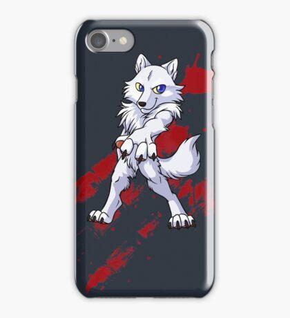 Cute anthro white wolf iPhone Case/Skin