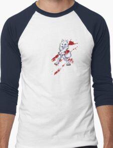 Cute anthro white wolf Men's Baseball ¾ T-Shirt
